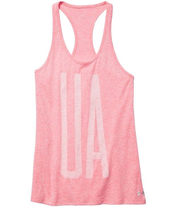 Under Armour Under Armour Pink Womens Charged Cotton Tri-blend Ua Graphic Tees