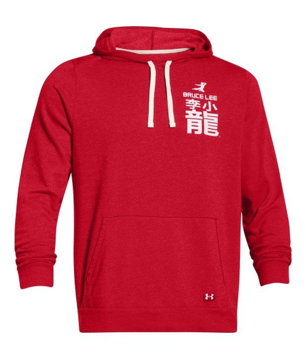 Under Armour Under Armour Red Mens Roots Of Fight Fleece Sweatshirt