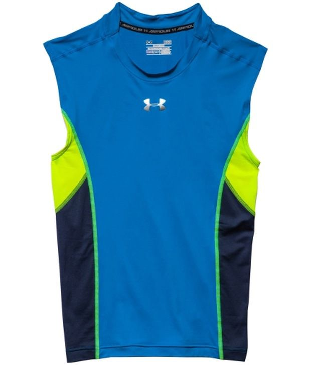 Under Armour Under Armour Red And Blue Mens Heat Gear Armour Stretch Sleeveless Compression Tank (pack Of 2)