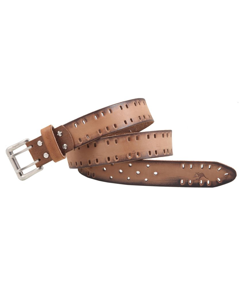 Kangoo Beige Leather Reversible Belt