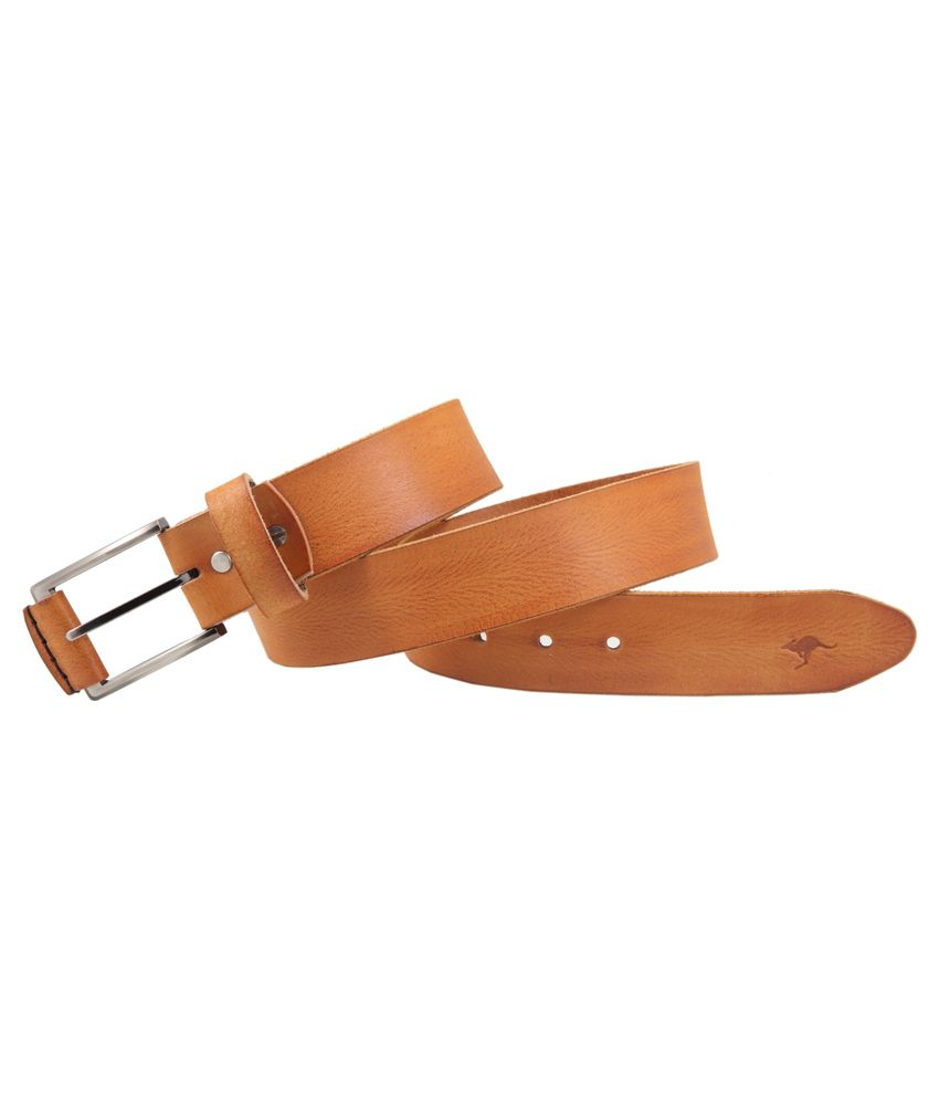 Kangoo Tan Leather Reversible Belt