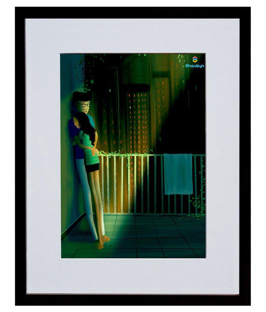 Shaukyn A Warm Embrace Love Digital Art Wall Painting