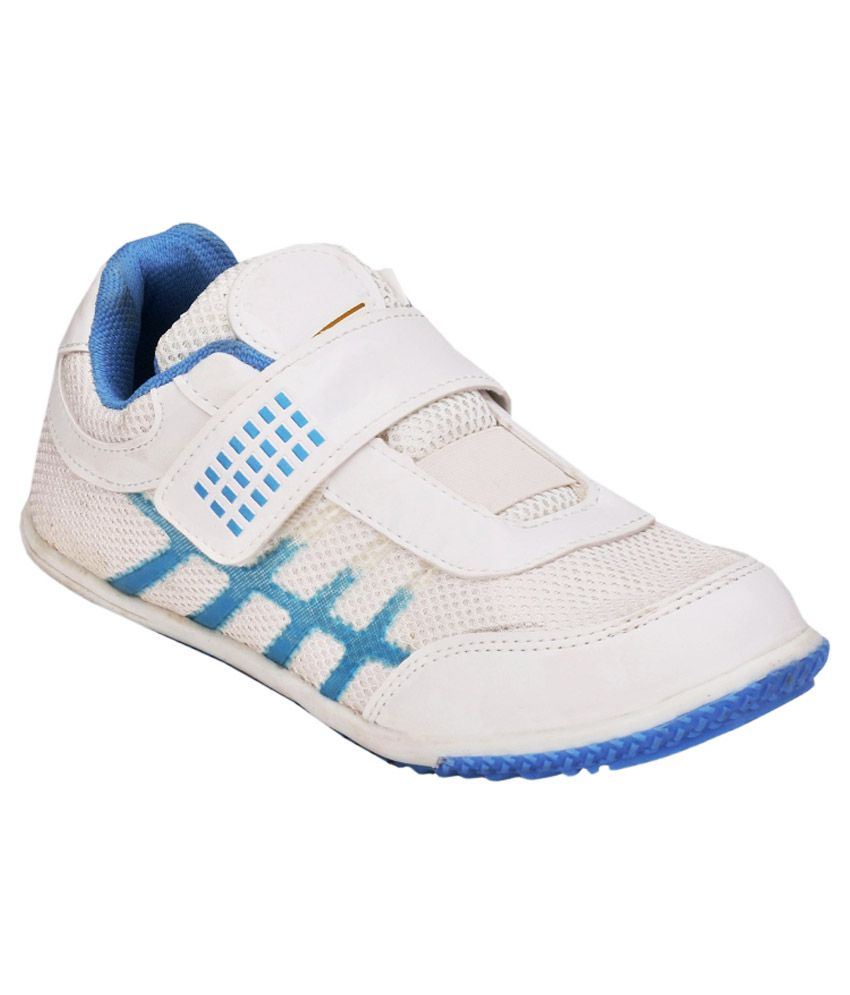 Hnt White And Blue Sports Shoes