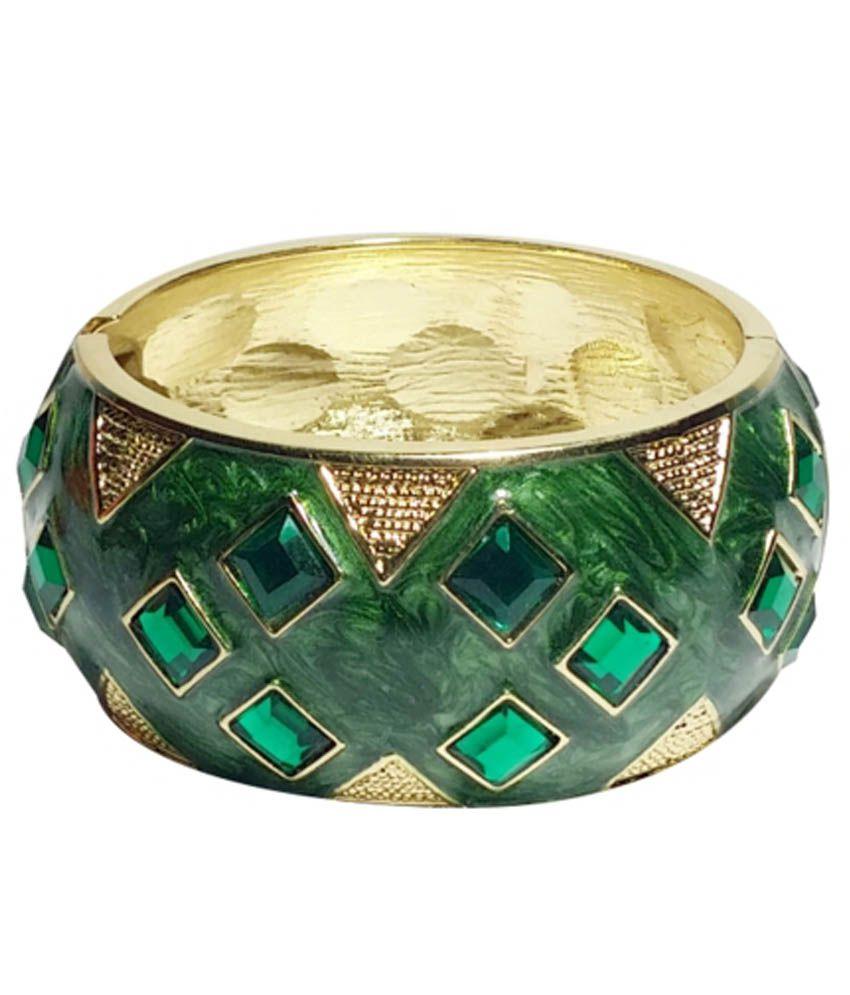 Mandeep Enterprises Green Alloy Bracelet
