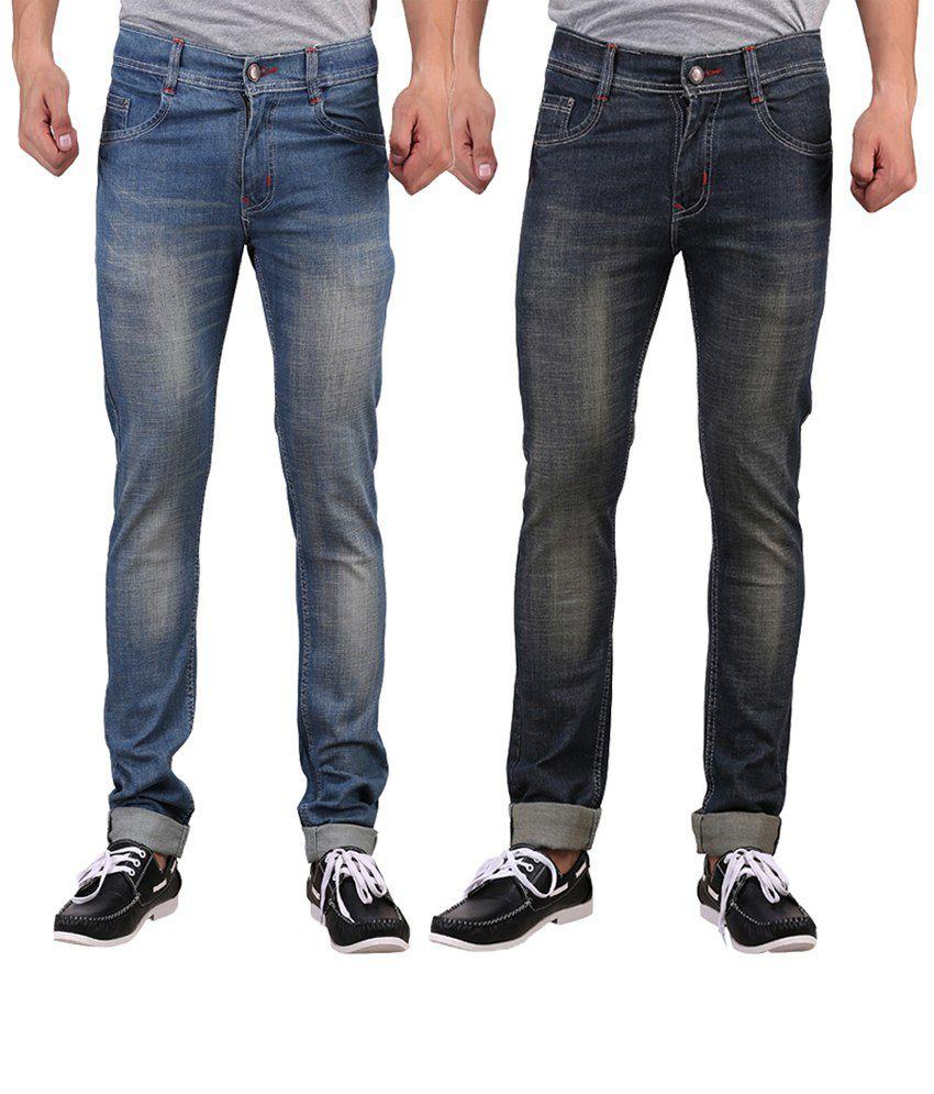 X-cross Blue Slim Fit Jeans - Pack Of 2