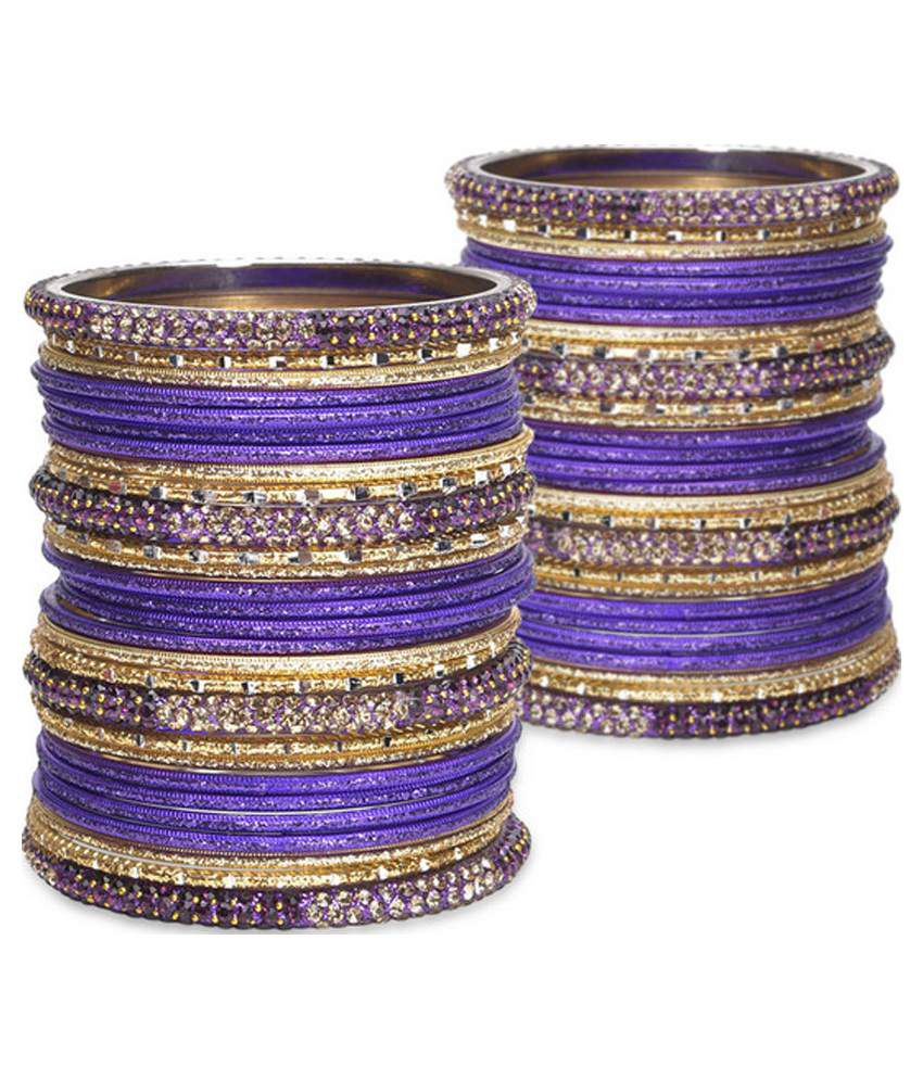 Zerokaata Multicolour Bridal Bangle Set