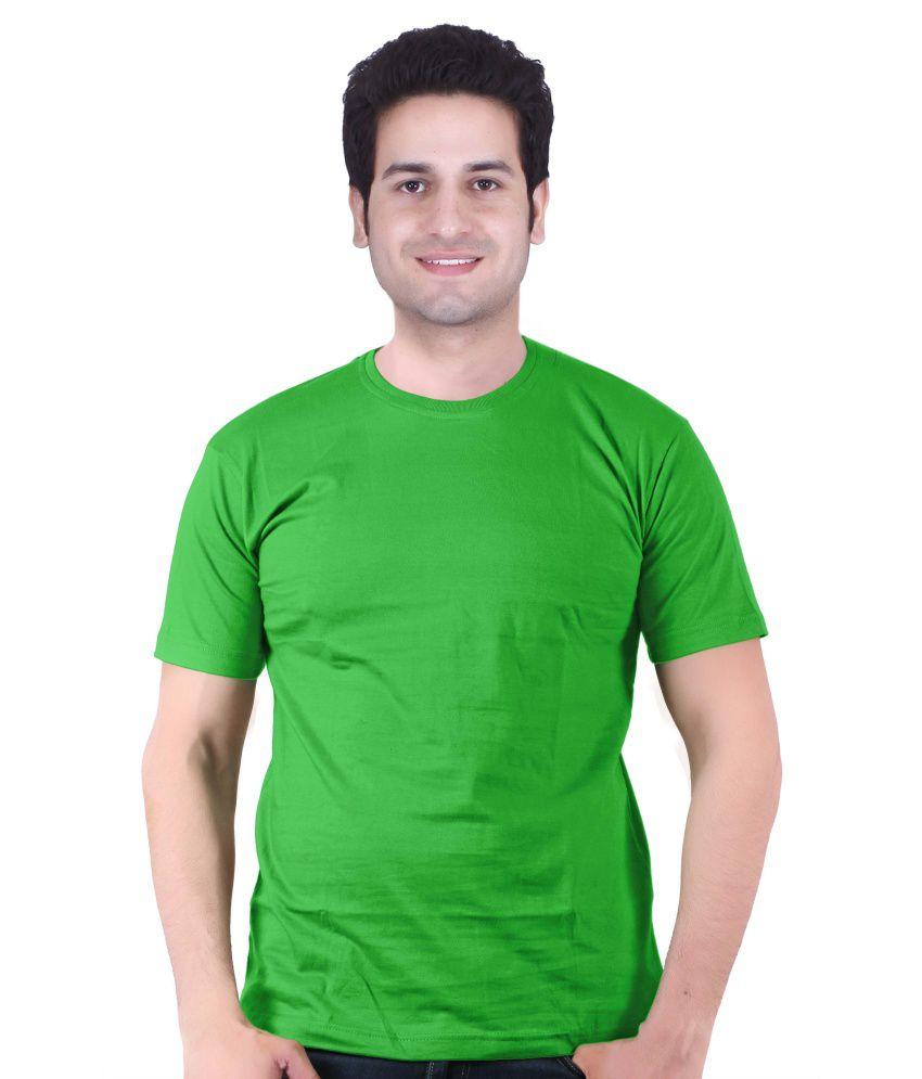 Leo Clothing Green 100 Percent Cotton T-shirt