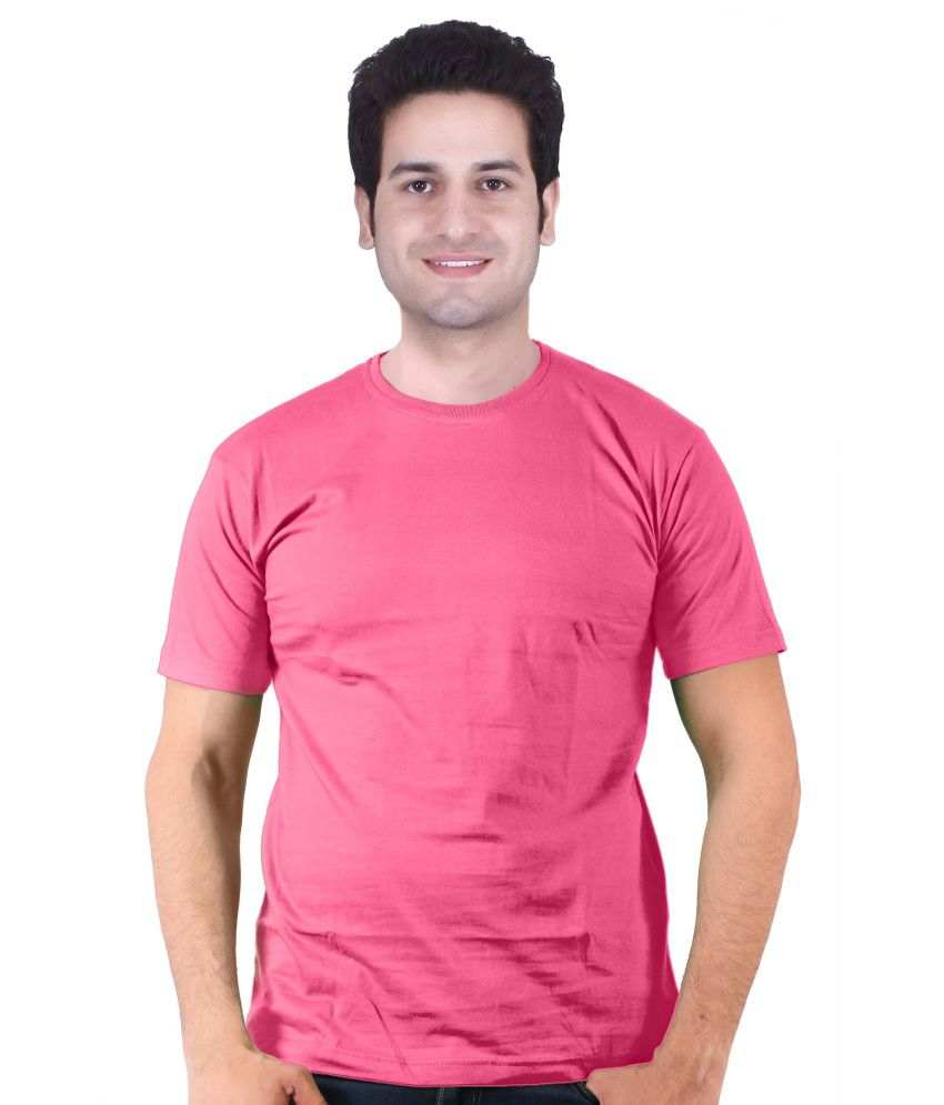 Leo Clothing Pink 100 Percent Cotton T-shirt