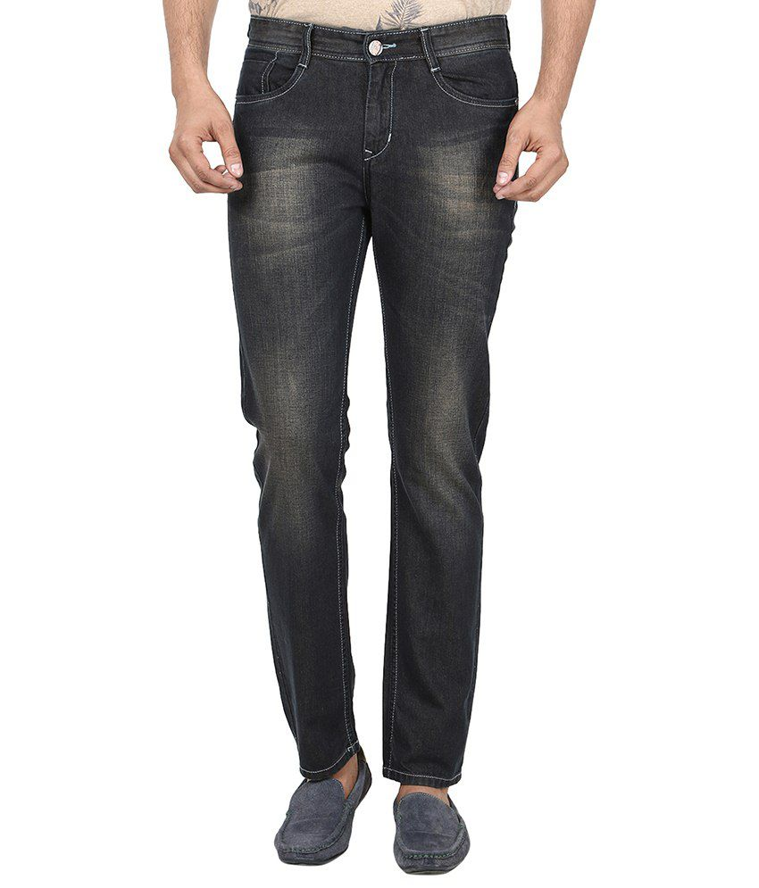 Fever Black Regular Fit Jeans