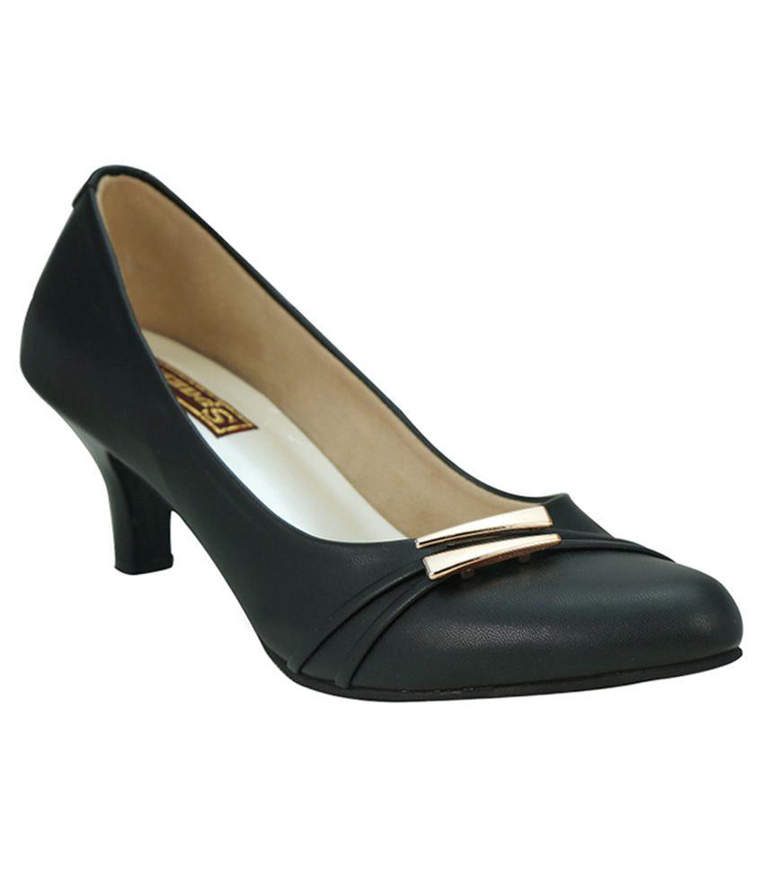 Spazzio Black Kitten Heels