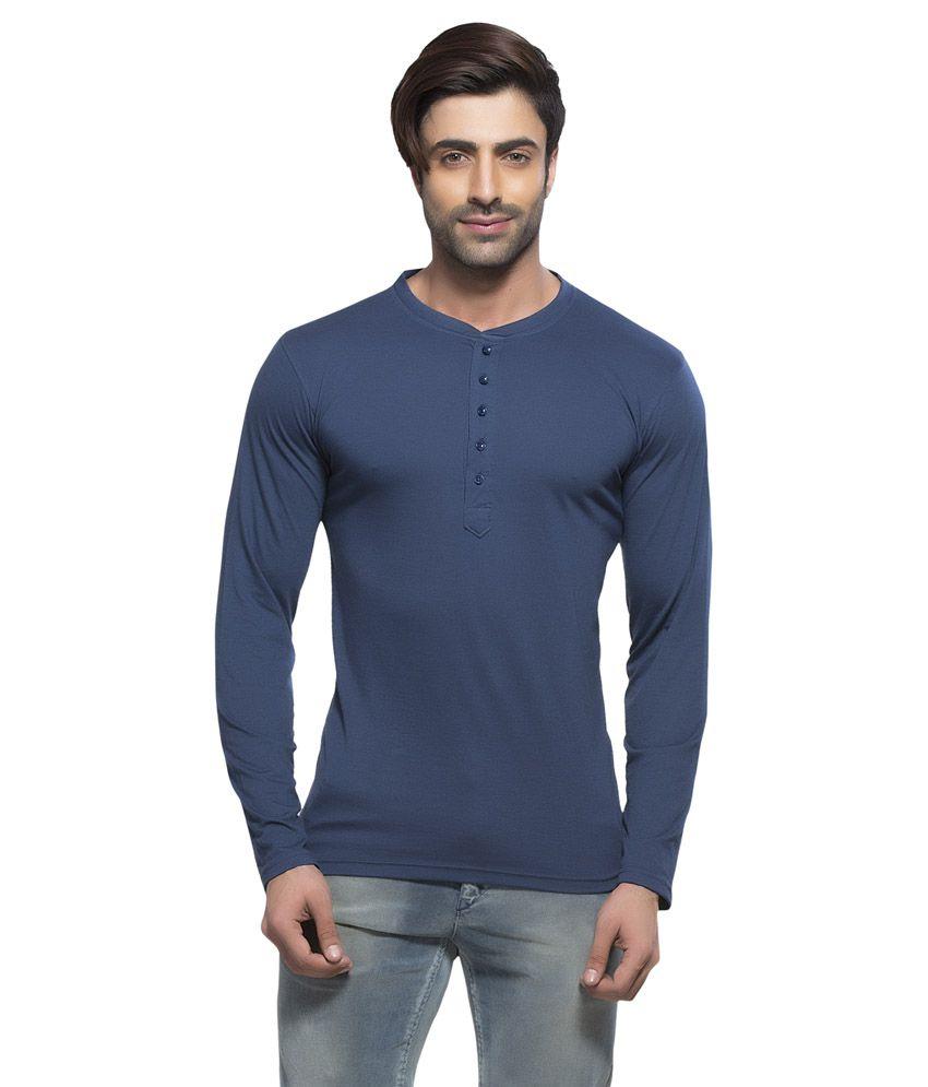 Alan Jones Clothing Navy Cotton T-shirt