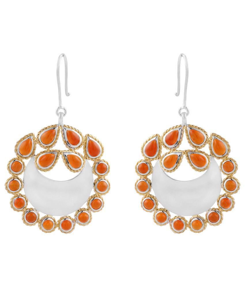 Allure Jewellery 92.5 Bis Hallmarked Sterling Silver Hanging Earrings