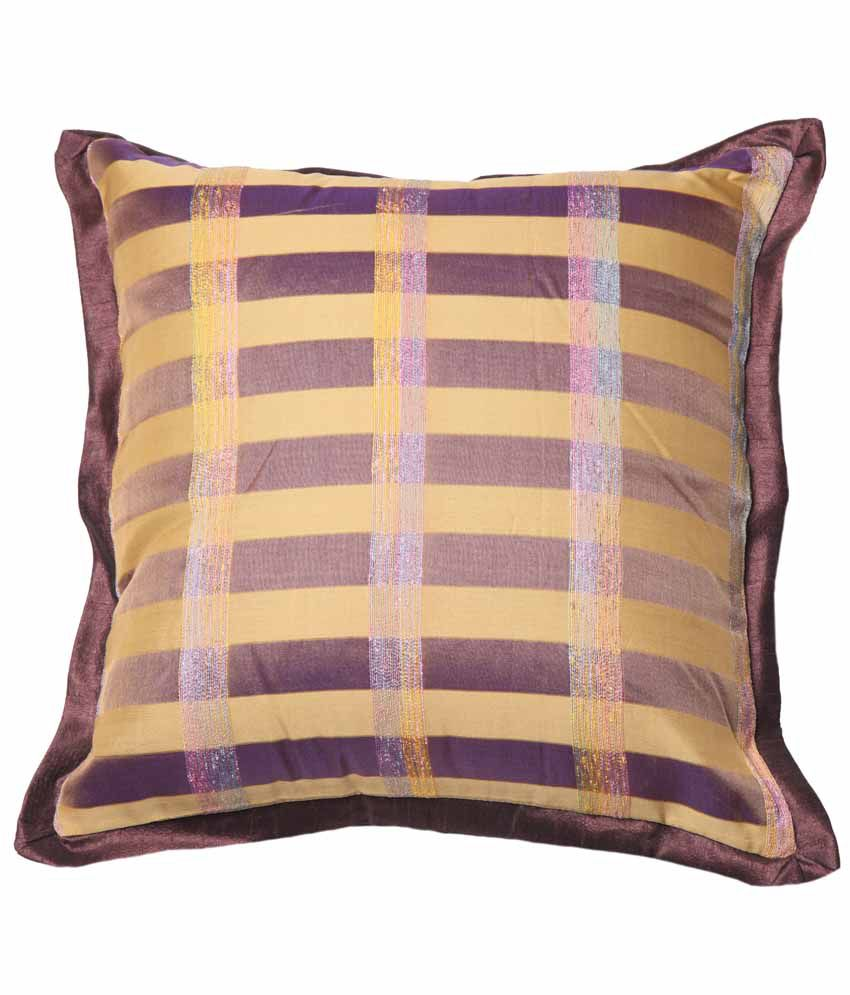 Blooming Lovely Multicolor Polyester Cushion Cover