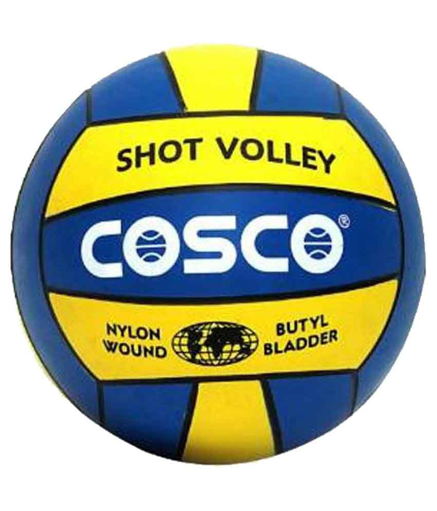 COSCO Blue and Yellow Volleyball Size 4