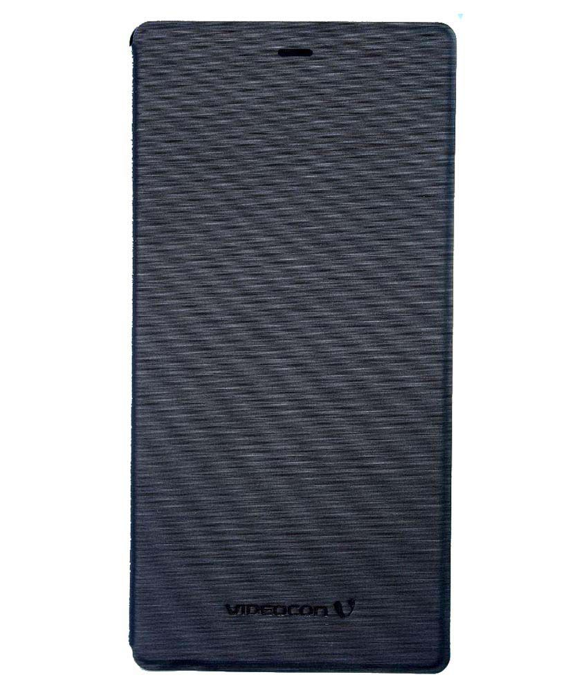 check out 7abcc 3dcd2 Videocon Flip Cover For Videocon Z55 Dash - Black