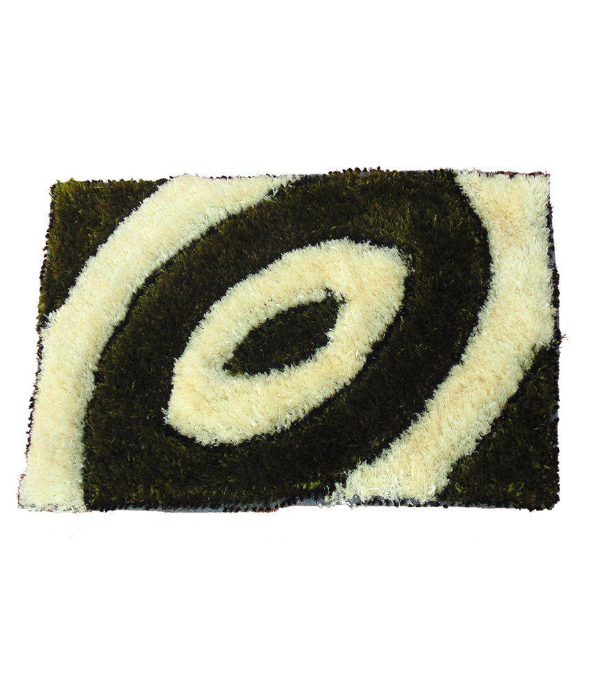 Presto Green Polyester Floor Mat