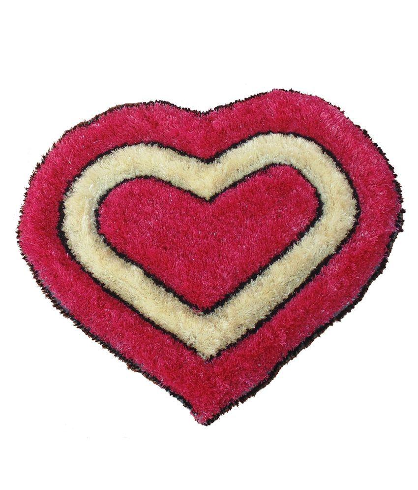 Presto Pink Polyester Floor Mat