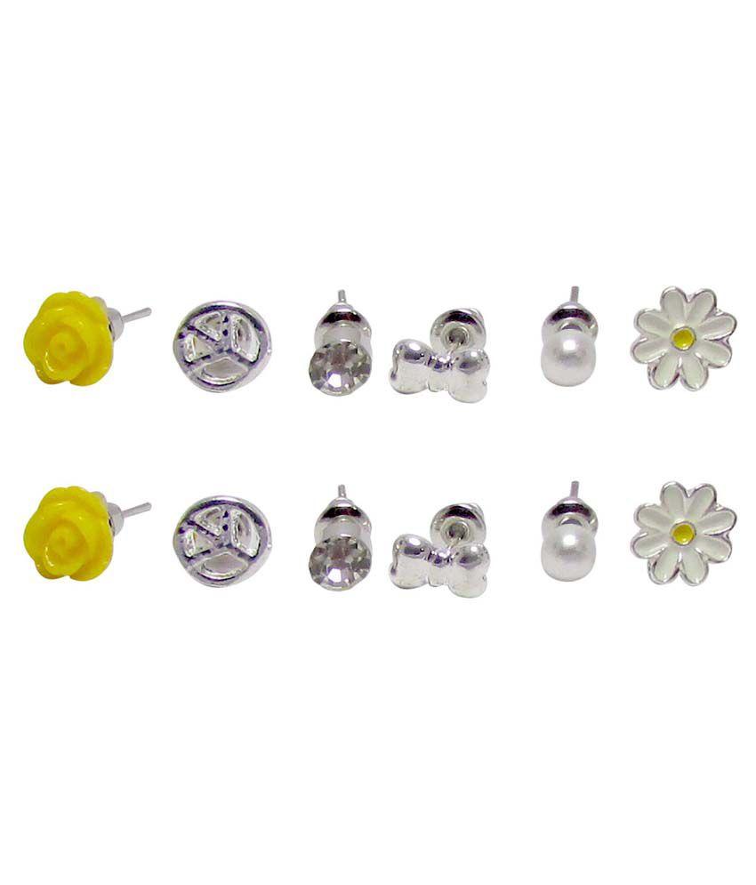Jewelz Alloy Combo Of Stud Earrings