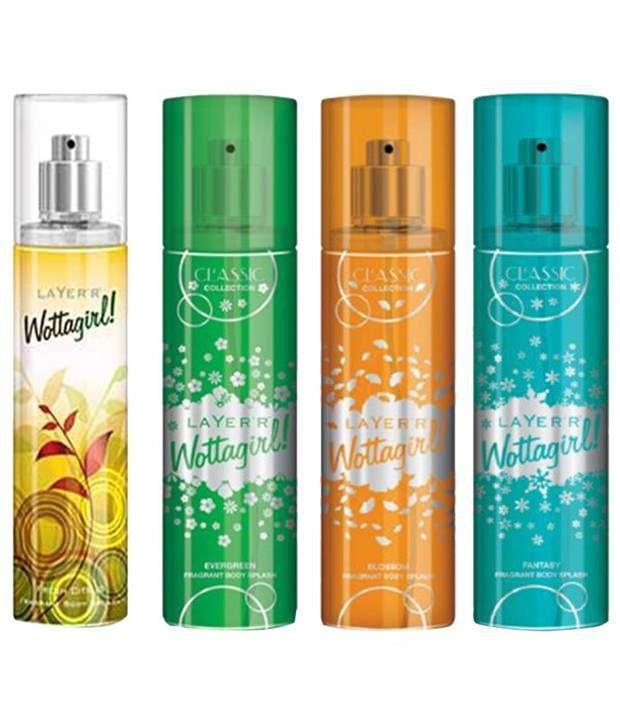 Layer'r Wottagirl Set of 4 Evergreen, Fantasy, Blossom & Fr...