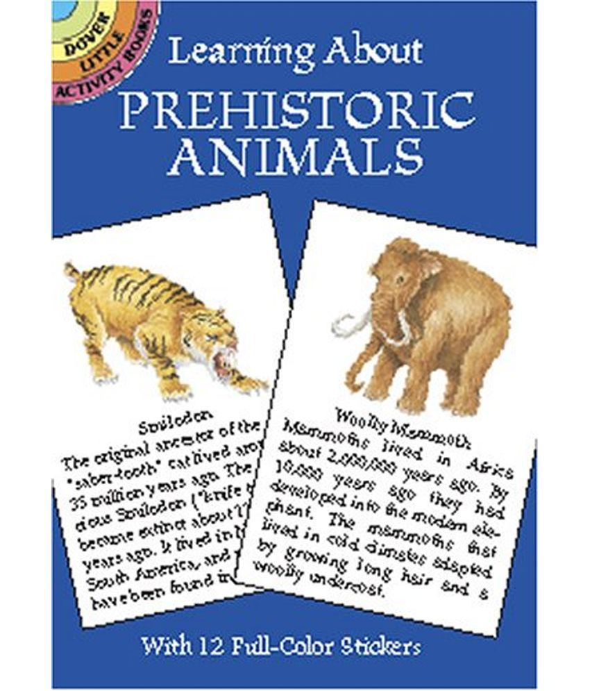 learning about prehistoric animals buy learning about prehistoric