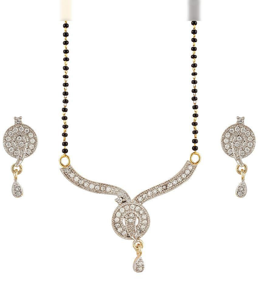 Aashvi Creation Golden Brass Mangalsutra