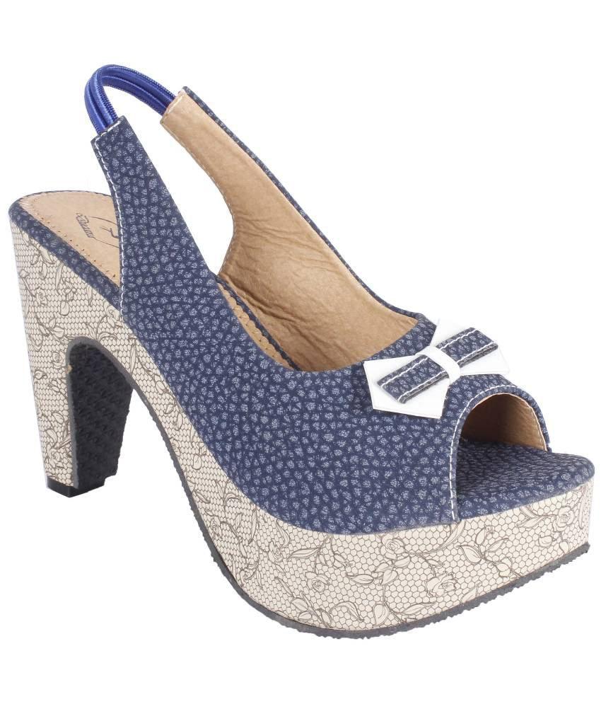 Ducara Blue Wedge Heels