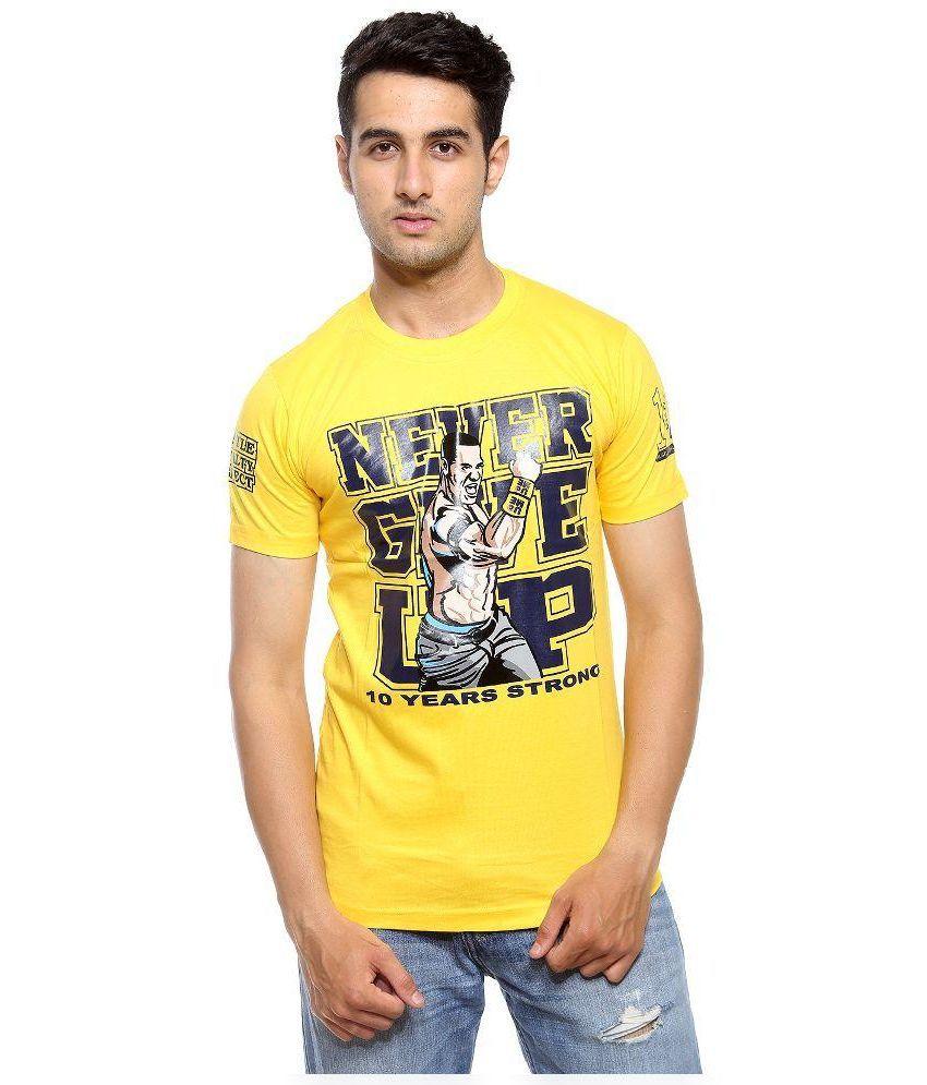 A4Attitude Yellow Cotton T-Shirt