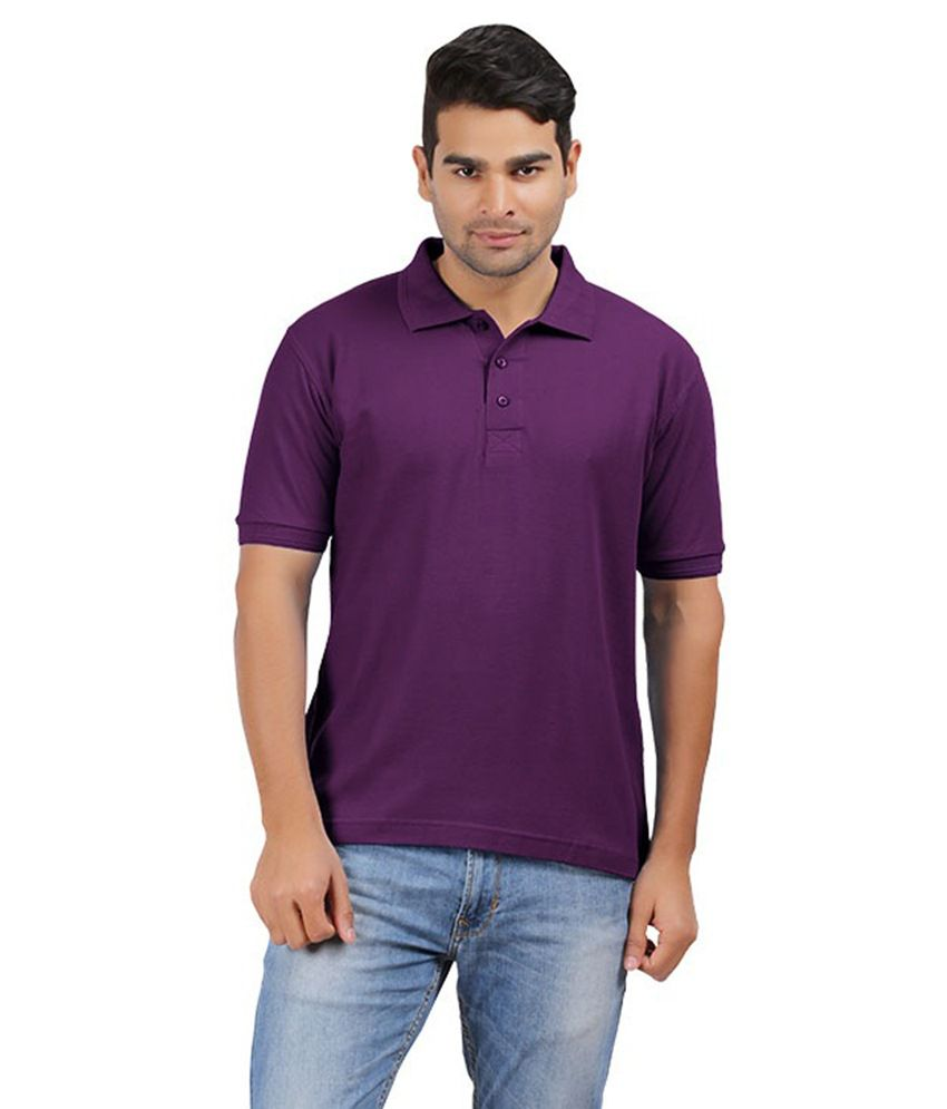 Harii Purple Cotton T-shirt