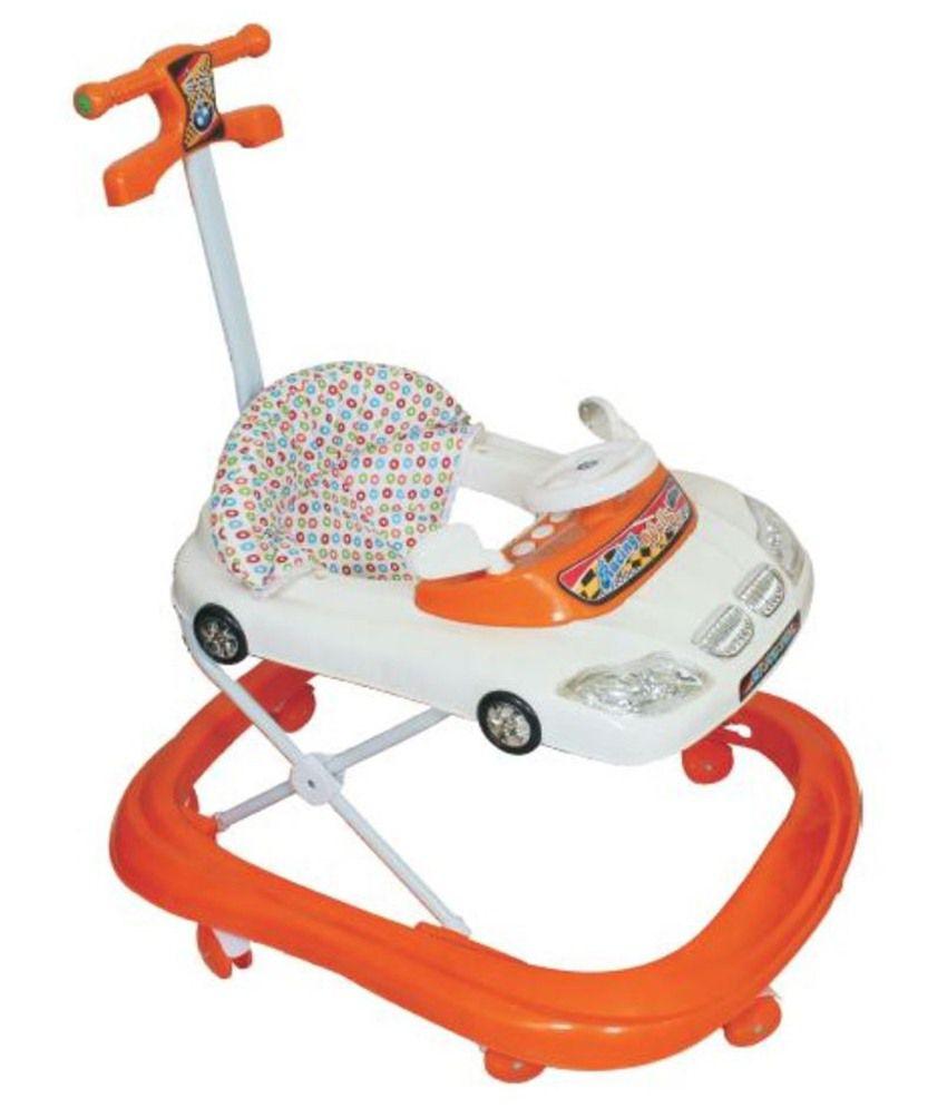 Panda orange plastic baby walker