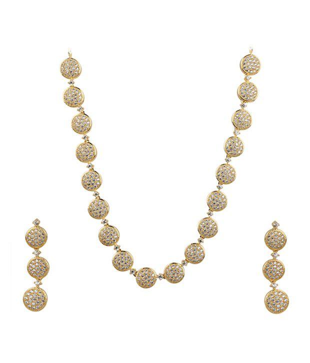 Uma Novelty Store Golden Brass Necklace Set