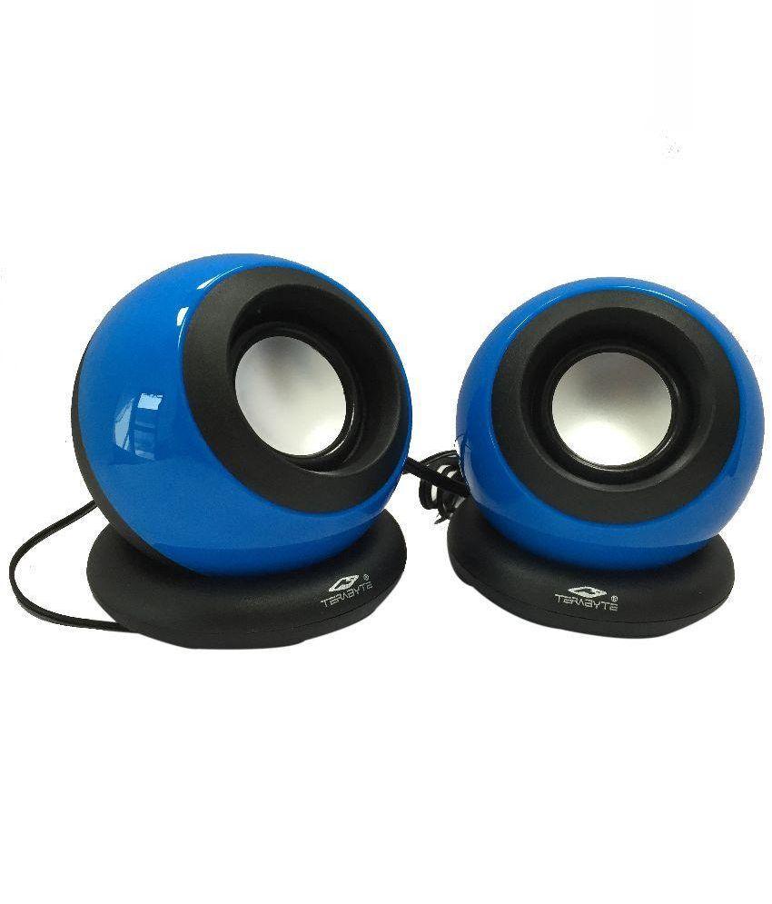 Terabyte Tb-008 2.0 Mini Desktop Speakers - Blue