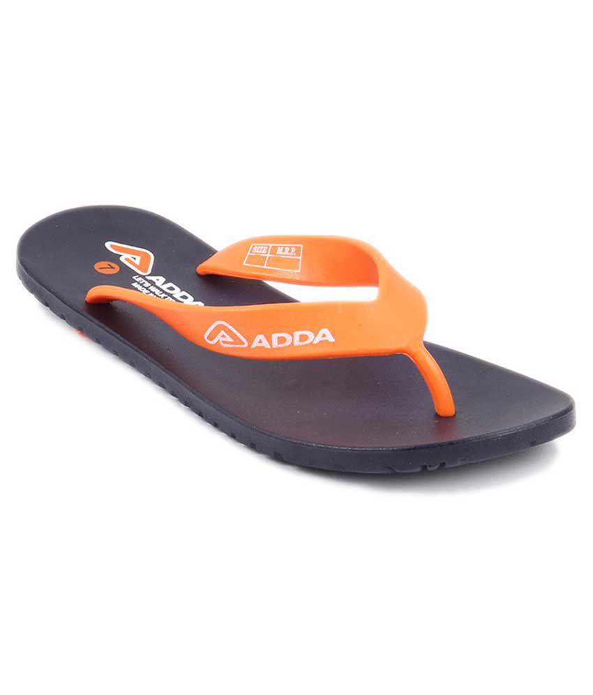 8807814528b Adda Orange Slippers & Flip Flops Price in India- Buy Adda Orange Slippers  & Flip Flops Online at Snapdeal