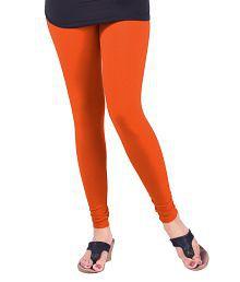 Lux Lyra Silk Orange Cotton Leggings