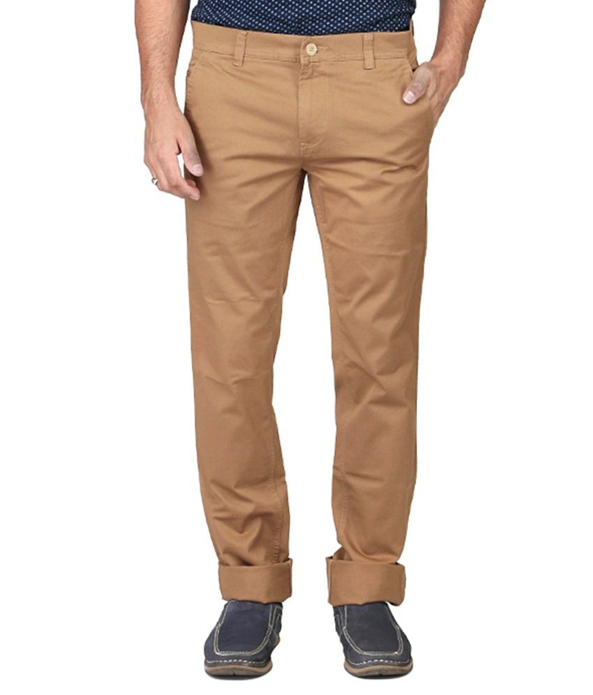 Irony Khaki Slim Fit Casual Chinos