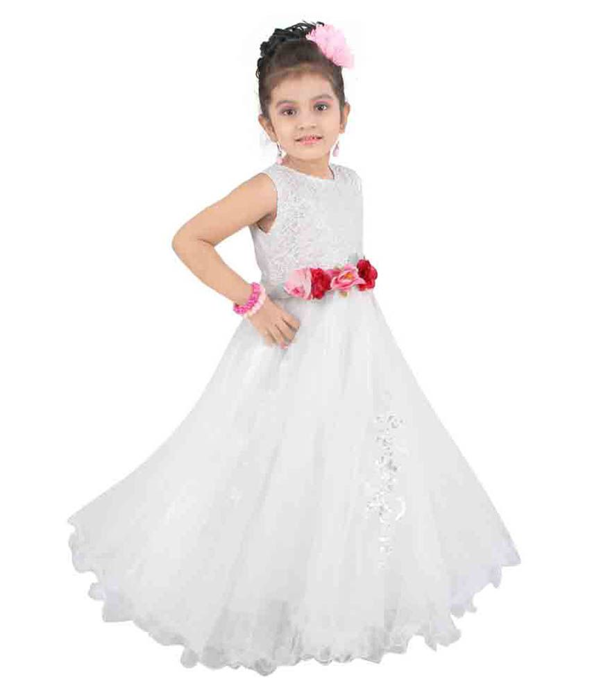 e7bd085bd Littleopia White Gown - Buy Littleopia White Gown Online at Low ...