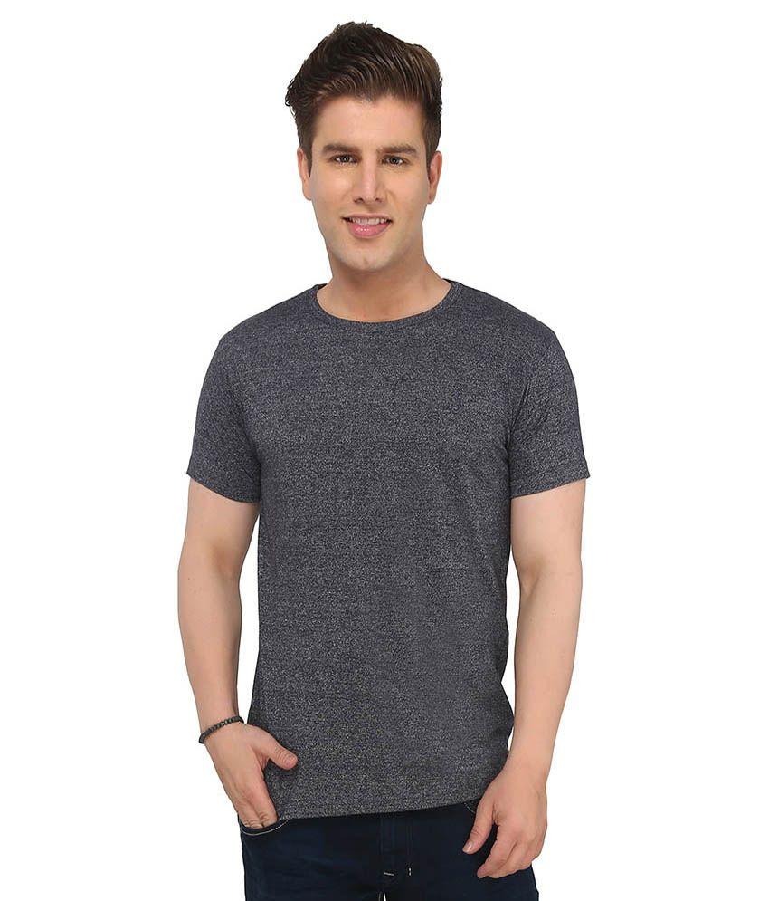 Imagica Grey Polyester Half Sleeve T-shirt