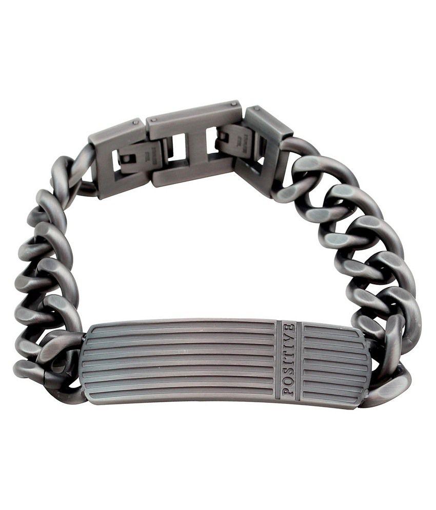 Sparkling Drop Silver Stainless Steel Bracelet