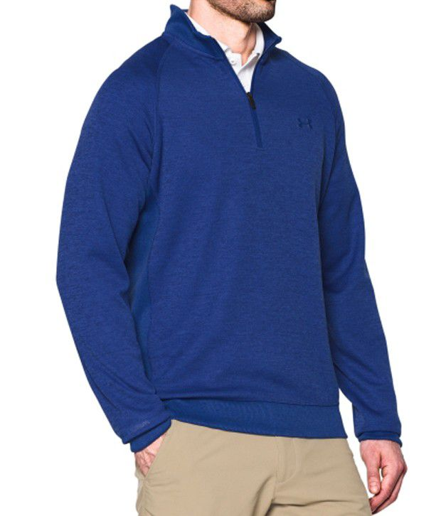 Under Armour Men's Storm Sweater Fleece Golf Quarter-zip, Steel