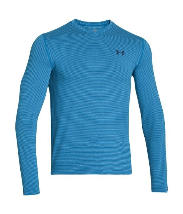 Under Armour Under Armour Men's Coldgear Infrared V-neck Long Sleeve Shirt, Volcano/charcoal