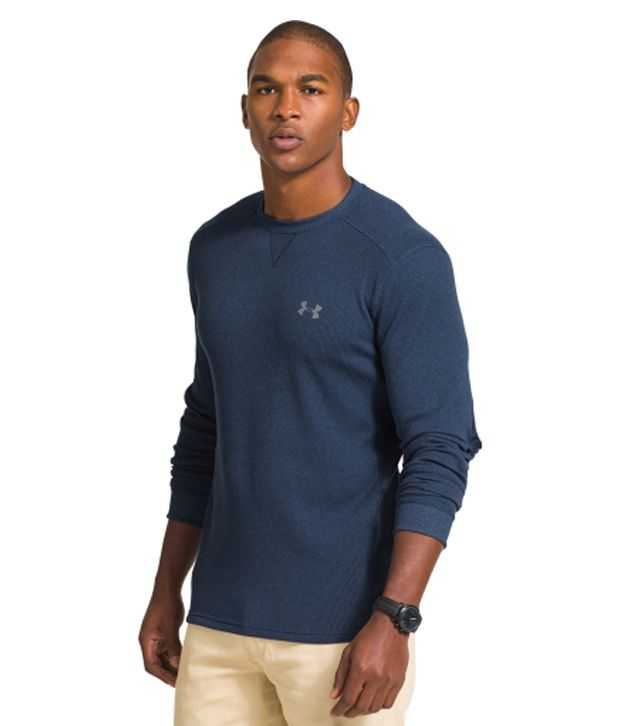 Under Armour Under Armour Men's Amplify Thermal Crewneck Long Sleeve Shirt, Ivory/graphite