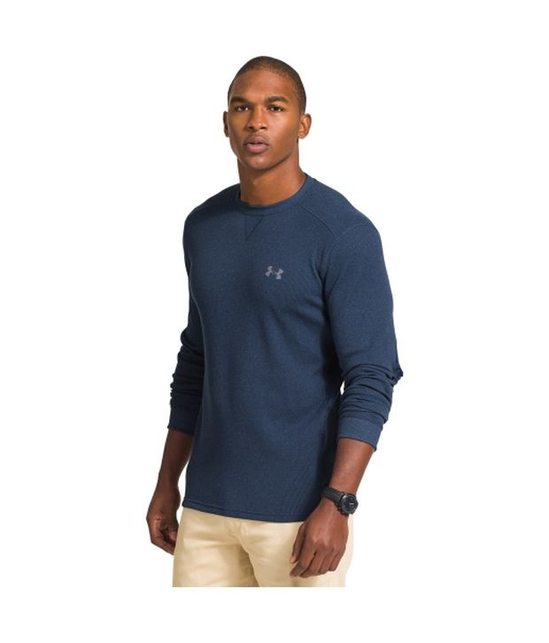 Under Armour Under Armour Men's Amplify Thermal Crewneck Long Sleeve Shirt, Artillery Green/black