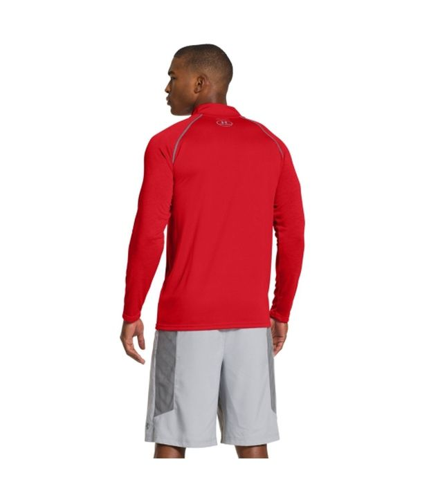 Under Armour Under Armour Men's Ua Tech Quarter Zip Long Sleeve Shirt, Deep Red/red