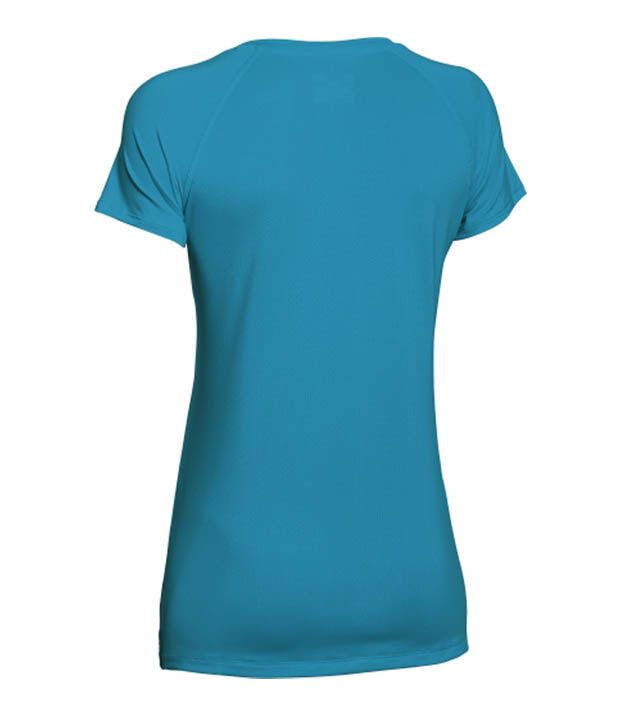 Under Armour Under Armour Women's Heatgear Armour Mesh V-neck T-shirt, Hyper Green