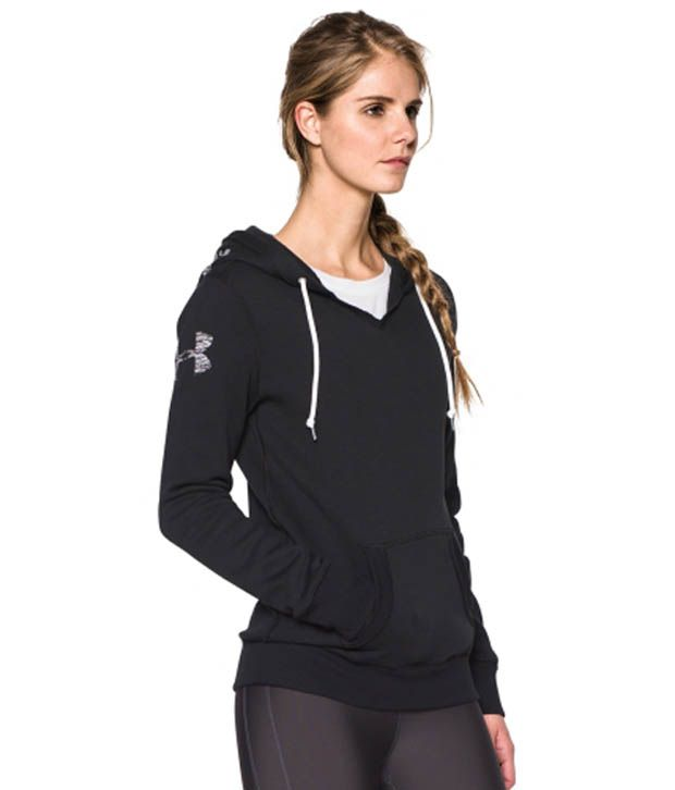 Under Armour Under Armour Women's Favorite Graphic Pullover Hoodie, True Gray Heather/black