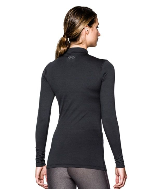 Under Armour Under Armour Women's Fitted Coldgear Mockneck Shirt, Black
