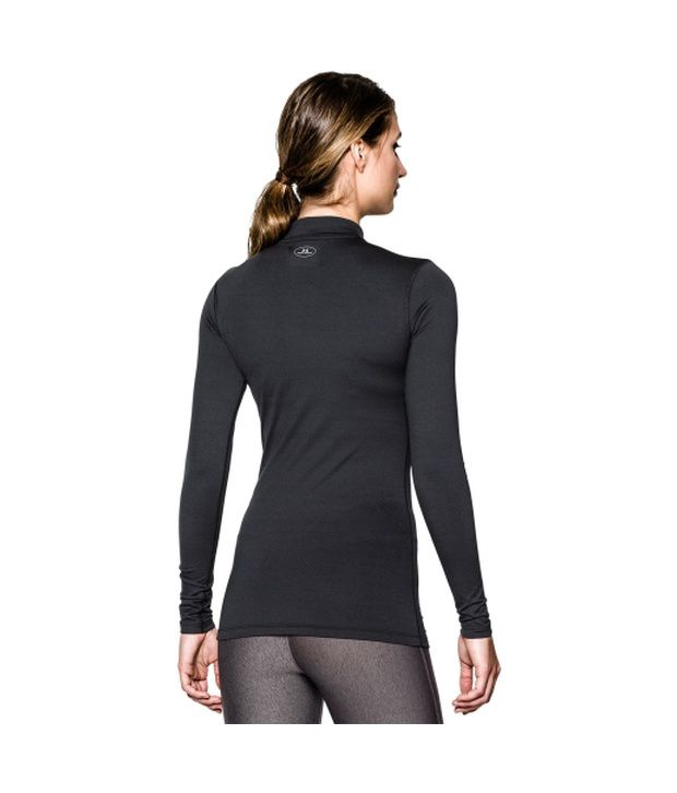 Under Armour Under Armour Women's Fitted Coldgear Mockneck Shirt, Red