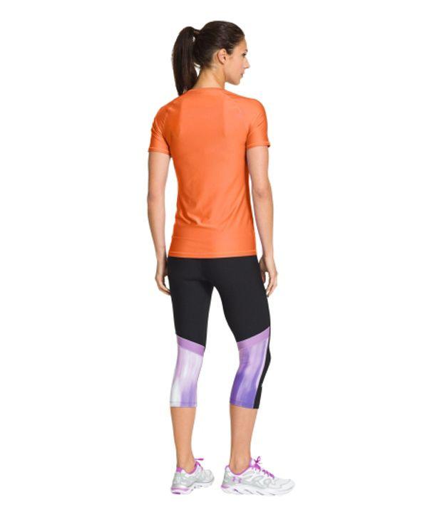 Under Armour Under Armour Women's Heatgear Alpha Short Sleeve Shirt, Pink Shock/msv