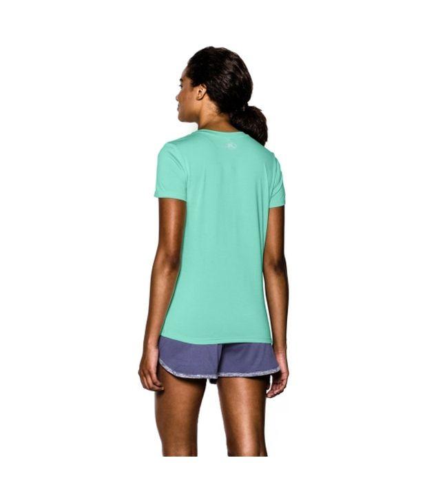 Under Armour Under Armour Women's Twisted Tech V-neck Shirt, Cyber Orange Twist