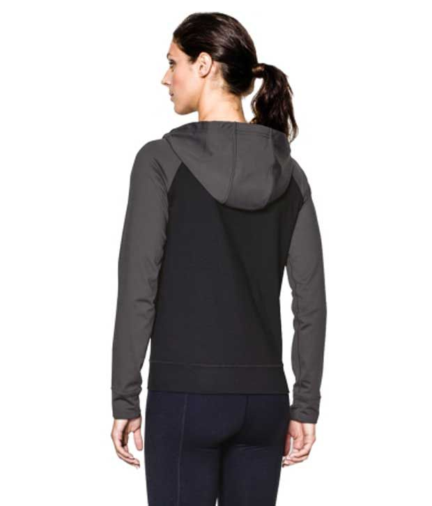Under Armour Under Armour Women's Lodge Full Zip Hoodie, Black/phantom Gray/msv