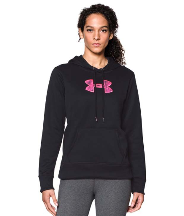 Under Armour Under Armour Women's Power In Pink Storm Armour Fleece Printed Big Logo Hoodie, Cerise/black